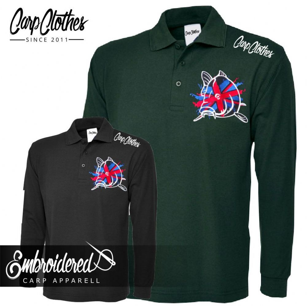 011 EMBROIDERED CARP LS POLO